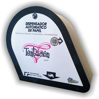Dispensador monedero de papel higienico